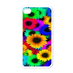 Colorful Sunflowers Apple Iphone 4 Case (white) by StuffOrSomething
