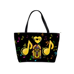 Music Shoulder Handbag By Joy Johns   Classic Shoulder Handbag   7pqtr48aexqi   Www Artscow Com Front