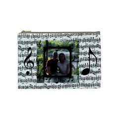 Music Medium Cosmetic Bag By Joy Johns   Cosmetic Bag (medium)   Ndolmo1vgy96   Www Artscow Com Front