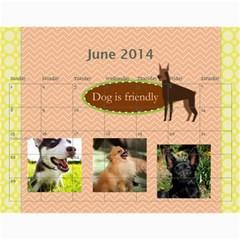 Dog By Pet    Wall Calendar 11  X 8 5  (18 Months)   Fux39fp3v17c   Www Artscow Com Jun 2014