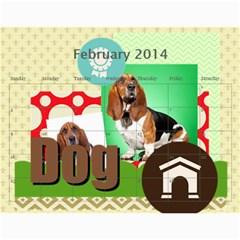 Dog By Pet    Wall Calendar 11  X 8 5  (18 Months)   Fux39fp3v17c   Www Artscow Com Feb 2014