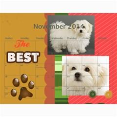 Dog By Pet    Wall Calendar 11  X 8 5  (18 Months)   Fux39fp3v17c   Www Artscow Com Nov 2014