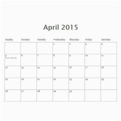 Dog By Pet    Wall Calendar 11  X 8 5  (18 Months)   Fux39fp3v17c   Www Artscow Com Apr 2015