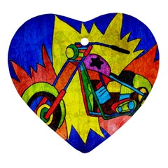 Chopper Heart Ornament (two Sides) by Siebenhuehner