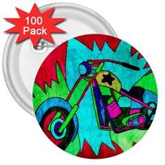 Chopper 3  Button (100 Pack) by Siebenhuehner