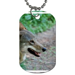 Red Wolf Dog Tag (two Sided)  by AnimalLover
