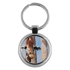 Cute Giraffe Key Chain (round) by AnimalLover