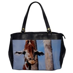 Cute Giraffe Oversize Office Handbag (one Side) by AnimalLover