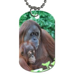 Orangutan Family Dog Tag (two Sided)  by AnimalLover