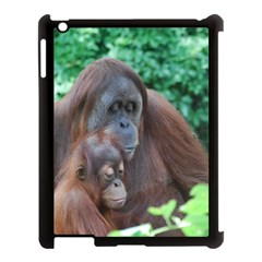 Orangutan Family Apple Ipad 3/4 Case (black) by AnimalLover