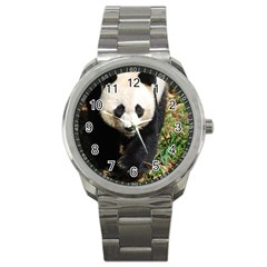 Giant Panda Sport Metal Watch by AnimalLover