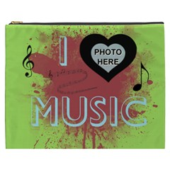Music Xxxl Cosmetic Bag By Joy Johns   Cosmetic Bag (xxxl)   Pzigzpjqblsw   Www Artscow Com Front