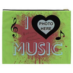 Music Xxxl Cosmetic Bag By Joy Johns   Cosmetic Bag (xxxl)   Pzigzpjqblsw   Www Artscow Com Back