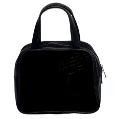 Black Classic Handbag (two Sides)