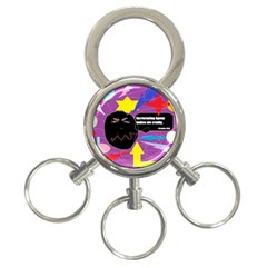 Excruciating Agony 3 Ring Key Chain by FunWithFibro