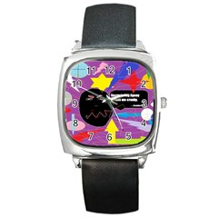 Excruciating Agony Square Leather Watch by FunWithFibro