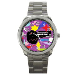 Excruciating Agony Sport Metal Watch by FunWithFibro