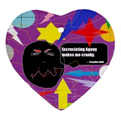 Excruciating Agony Heart Ornament (two Sides) by FunWithFibro