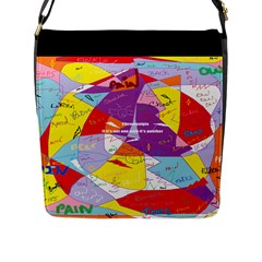 Ain t One Pain Flap Closure Messenger Bag (large) by FunWithFibro