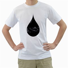 A drop in a sea of stars. Men s T-Shirt (White)  by Contest1807839