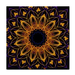 Yellow Purple Lotus Mandala Ceramic Tile
