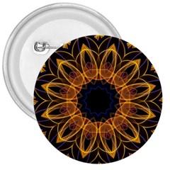 Yellow Purple Lotus Mandala 3  Button by Zandiepants
