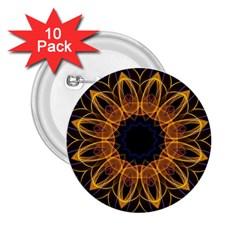 Yellow Purple Lotus Mandala 2.25  Button (10 pack) by Zandiepants