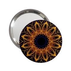 Yellow Purple Lotus Mandala Handbag Mirror (2 25 ) by Zandiepants