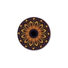 Yellow Purple Lotus Mandala Golf Ball Marker 10 Pack by Zandiepants