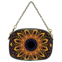 Yellow Purple Lotus Mandala Chain Purse (one Side) by Zandiepants