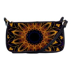 Yellow Purple Lotus Mandala Evening Bag by Zandiepants