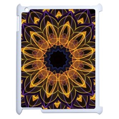 Yellow Purple Lotus Mandala Apple Ipad 2 Case (white) by Zandiepants
