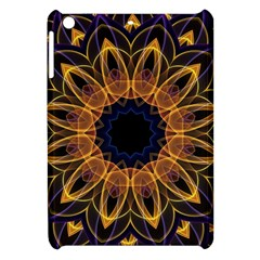 Yellow Purple Lotus Mandala Apple Ipad Mini Hardshell Case by Zandiepants