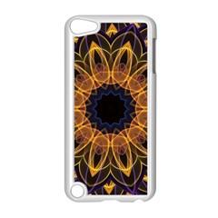 Yellow Purple Lotus Mandala Apple Ipod Touch 5 Case (white) by Zandiepants