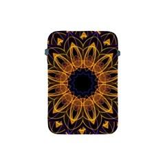 Yellow Purple Lotus Mandala Apple Ipad Mini Protective Sleeve by Zandiepants