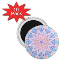 Soft Rainbow Star Mandala 1 75  Button Magnet (10 Pack) by Zandiepants