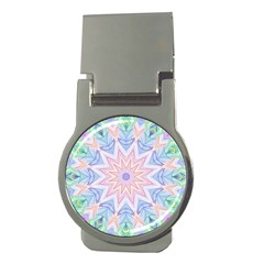 Soft Rainbow Star Mandala Money Clip (round) by Zandiepants