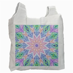 Soft Rainbow Star Mandala Recycle Bag (Two Sides) by Zandiepants