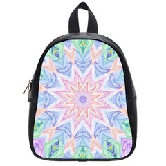 Soft Rainbow Star Mandala School Bag (small) by Zandiepants