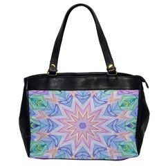 Soft Rainbow Star Mandala Oversize Office Handbag (one Side)