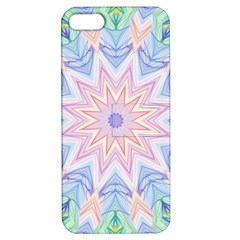 Soft Rainbow Star Mandala Apple Iphone 5 Hardshell Case With Stand by Zandiepants