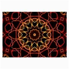 Yellow And Red Mandala Glasses Cloth (large) by Zandiepants