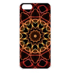 Yellow And Red Mandala Apple Iphone 5 Seamless Case (white) by Zandiepants