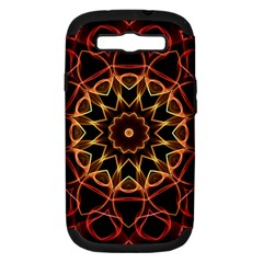 Yellow And Red Mandala Samsung Galaxy S Iii Hardshell Case (pc+silicone) by Zandiepants
