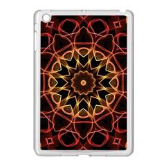 Yellow And Red Mandala Apple Ipad Mini Case (white) by Zandiepants