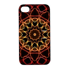 Yellow And Red Mandala Apple Iphone 4/4s Hardshell Case With Stand by Zandiepants