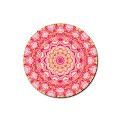 Yellow Pink Romance Drink Coaster (round) by Zandiepants