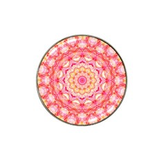 Yellow Pink Romance Golf Ball Marker 10 Pack (for Hat Clip) by Zandiepants