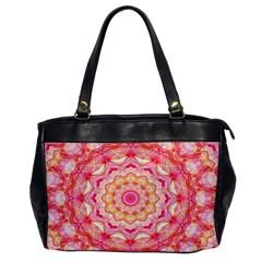 Yellow Pink Romance Oversize Office Handbag (one Side) by Zandiepants