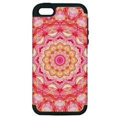 Yellow Pink Romance Apple Iphone 5 Hardshell Case (pc+silicone) by Zandiepants